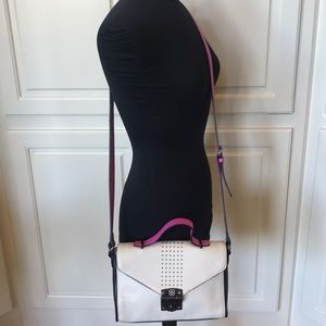 Gianni Bini Hot Pink and Creme Shoulder Bag!